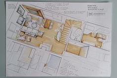 Ground floor plan (hand render by Magdalena Sobula)