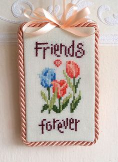 Friends Forever cross stitch chart