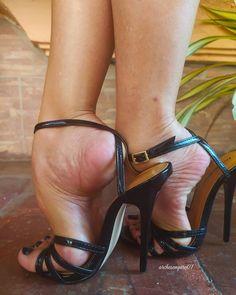 Pantyhose Heels, Stockings Heels, Sexy Legs And Heels, Sexy High Heels, Beautiful High Heels, Women's Feet, Ankle Strap Heels, Stiletto Heels, Killer Heels