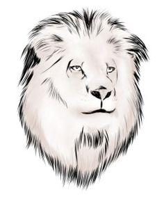 White-Lion-Tattoo-Design