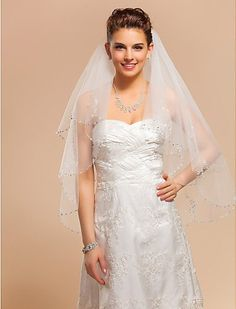 Tulle Two-tier Fingertip 35.43 in (90cm) Ivory Wedding Veil With Lace Applique Edge Free Pair Of Glove nero0617 http://www.amazon.com/dp/B00JZLMM2E/ref=cm_sw_r_pi_dp_A0y1tb1RE9V9488R