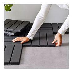 IKEA - RUNNEN, Estrado, exterior, É fácil renovar o seu terraço ou varanda colocando soalho.Feito em plástico, o estrado é impermeável e de fácil manutenção.Pode cortar o estrado para que encaixe num canto ou numa trave.Pode retirar e voltar a colocar o estrado facilmente sempre que necessitar de limpar o pavimento por baixo.