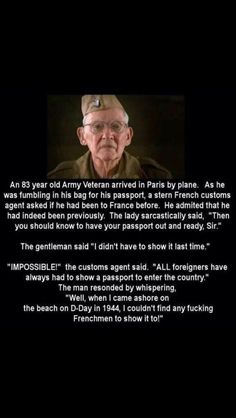 Mens Womens Humor : An Army Veteran vs. The French Customs - True Humo. Military Quotes, Military Humor, Military Box, Military Ranks, Military History, Funny Quotes, Funny Memes, Hilarious, Funniest Memes