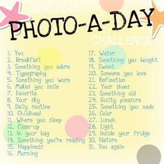 Photo-A-Day Photography Challenge: June 2013 - but can I use it for July?!