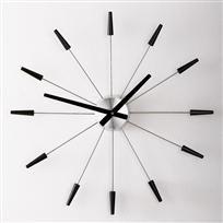 Starburst Wall Clock — LiveModern: Your Best Modern Home Modern Clock, Mid-century Modern, Tick Tock Clock, Mantel Clocks, Wall Clocks, Mantle, Grandfather Clock, Interior Design Studio, Metal Walls