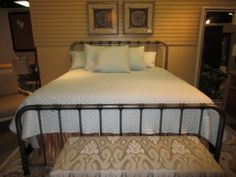 """87531 Tristen Bed Price: $349.99  Item #: 41083 Reminiscent of a Restoration Hardware metal bed, this pewter king is a fraction of the cost.   This definitely falls into the category of """"Get the Look for Less."""""""