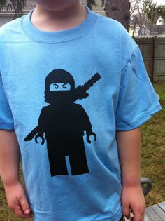 LEGO Ninjago  Screen printed tshirt by iLego on Etsy, $15.00