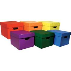 Classroom Keepers Storage Tote Assortment External Dimensions Width x Depth x Height Stackable Assorted For File Folder Hanging Folder 6 Pack Tote Storage, Office Storage, Storage Organization, Organizing Tips, Craft Storage, Teaching Supplies, School Supplies, Storage Containers, Storage Boxes
