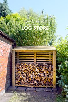 DIY Logstore - Free Plans & Step by Step Tutorial