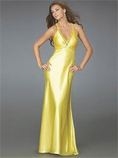 Deep V-neckline Beaded Pleated Open Back With Criss Cross Staps Satin Prom Dress PD10722