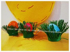 Easter grass stand to hold or hide Easter eggs. Perfect for indoor or outdoor egg hunt!