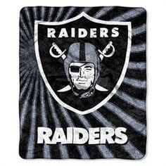 Oakland Raiders Sherpa 50 x 60 Jersey Throw Blanket