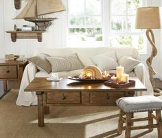 That rope lamp!!  Love!  Room Decorating Ideas, Room Décor Ideas & Room Gallery | Pottery Barn