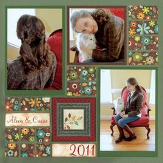 Mosaic Moments Page Pattern: Puzzle Style with Mosaic Detailing (@Tami Arnold Potter.com)