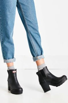 Hunter Original Block Heel Chelsea Boot - Urban Outfitters
