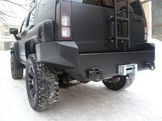 Hummer H3 with Kevlar Paint.