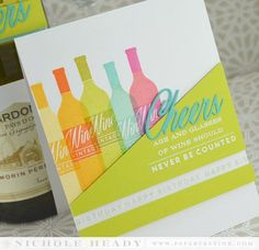 Wine Birthday Cheers Card