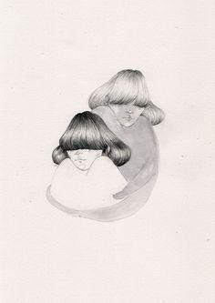 En lo más fffres.co: Ilustraciones de chicas tímidas que esconden sus emociones: ¿Cómo… #Art #chicas_tímidas #timidez #chicas #ilustración