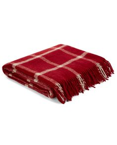 Northwood Check Cranberry Throw #lauraashleyhome