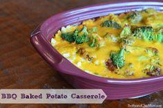 BBQ Baked Potato Casserole via @Ellen Page #recipe #quickfixcasseroles #sponsored