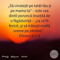 https://www.facebook.com/praysharelove/ Fii o binecuvântare pentru părinții tăi! #respect #răsplată #ascultare