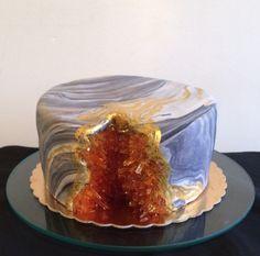 Amber Geode cake