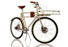 faraday porteur electric bicycle... hidden batteries = clean design.  pedal or epower, your choice.