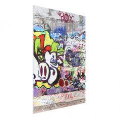 #Forex Fine #Art Print - #Wandbild Graffiti - Hoch 4:3 #Graffiti #sprayen #streetlife #skater #yolo
