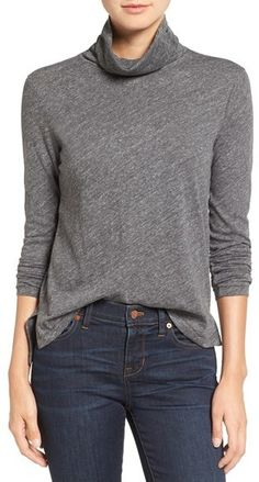 A turtleneck top knit from soft, lightweight cotton makes a polished yet versatile closet staple. Women's Madewell Whisper Cotton Turtleneck Top