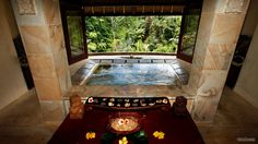 Spa with a green view in Ubud