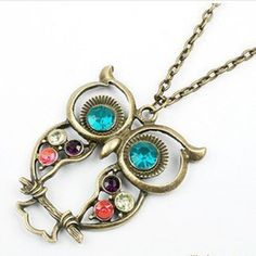 Women Vintage Rhinestone OWL Pendant Long Chain Necklace Jewellery Gift in Jewelry & Watches, Fashion Jewelry, Necklaces & Pendants Owl Jewelry, Cute Jewelry, Jewelry Gifts, Jewelry Accessories, Jewelry Necklaces, Chain Jewelry, Long Necklaces, Jewlery, Vintage Necklaces