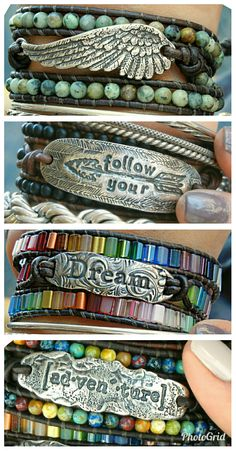 READY to SHIP boho wraps on www.HappyGoLicky.com. Just CLICK pic to get started looking and SAVE 10% today with coupon code PIN10. #bohojewelry #stackingbracelets #modernhippie