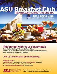ASU Foundation for a New American University - ASU Law and Business Alumni Breakfast Club