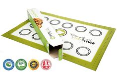 Chef Clever Premium Non-stick Silicone Baking Mat, Reusable Professional Baking Sheet Liner for Your 16.5x11 Jelly Roll Pan, Fun Cookie Sheets for Kids, No More Parchment Paper or Aluminum Foil >>> Remarkable product available  : Baking Accessories