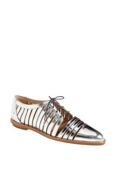 Loeffler Randall 'Fay' Metallic Leather Oxford available at #Nordstrom
