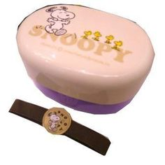 Japanese BENTO LUNCH BOX SET LAVENDAR purple SNOOPY PEANUTS 2tier oval