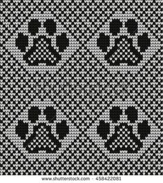 Seamless knitted pattern with cat paws free fair isles ravelry Seamless Knitted Pattern Cat Paws Stock Vector (Royalty Free) 458422081 Fair Isle Knitting Patterns, Fair Isle Pattern, Knitting Charts, Loom Knitting, Knitting Stitches, Fair Isle Chart, Graph Design, Pattern Pictures, Mittens Pattern