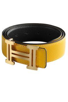 HERMES Men's Leather Reversible Belt.
