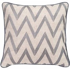 Better Homes and Gardens Embroidered Chevron Contemporary Pillow with Binding - Walmart.com