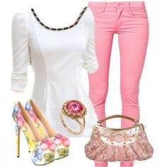 Attractive+Flower+Print+Closed-toe+Stiletto+Heel+Popular+Prom+Shoes+$56.49