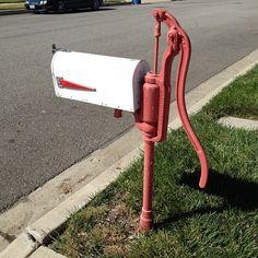 The water pump mailbox - @Carly Alyssa Thorne- #webstagram