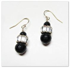 Shop for earrings on Etsy, the place to express your creativity through the buying and selling of handmade and vintage goods. Black Onyx, Vintage Black, Drop Earrings, Trending Outfits, Unique Jewelry, Handmade Gifts, Etsy, Kid Craft Gifts, Craft Gifts