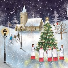 CARD: a beautiful choir scene, perfect to get into the Christmas mood