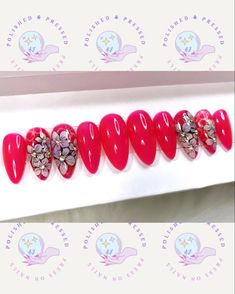 Short Press On Nails, Etsy Seller, Create, Flowers, Pink, Royal Icing Flowers, Pink Hair, Flower, Florals