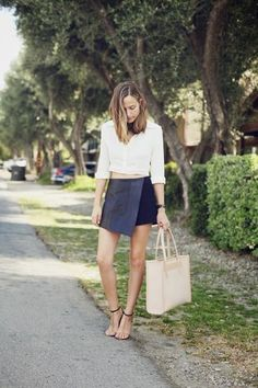 30 ways to wear a black leather skirt - crop top, sandals // Bethany Struble