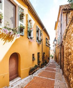 menton france old town Oh The Places You'll Go, Places To Travel, Travel Destinations, Menton France, Valensole, Yellow Walls, Travel Aesthetic, France Travel, Travel Europe