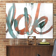 Love Canvas Art by kenT Youngstrom | Metallic Paint and Metal Effects by Modern Masters