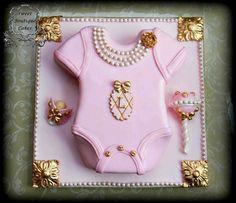 Baby girl LV cake idea