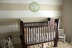 Baby Nursery Decorations You Can Create for Baby Nursery Room: Simple Chocolate Baby Room For Boy Or Girl With Dark Chocolate Old Style Baby Crib Matching Light Brown Rug White Small Children Chair