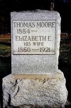 Thomas Moore ~ Bergholz Cemetery #genealogy